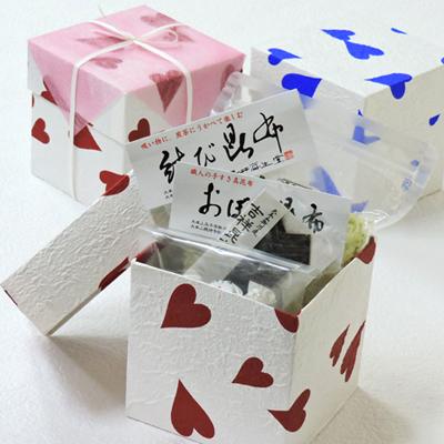 バレンタイン、誕生日プレゼントに : CD箱詰合せA(吉祥昆布入り)