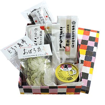 昆布の手土産~鯖缶&ごまどうふ~